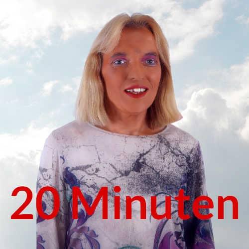 Mediale Beratung Spirituelle Lebensberatung 20 Minuten Engelmedium Nadka Hafendörfer vor Wolken